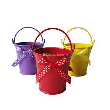 wholesale decorative pot 7 7cm wedding favor bowknot design bucket