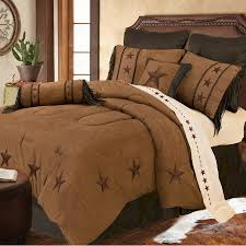 Rustic Comforter Sets Laredo Luxury Embroidered Star Comforter Set 3 Colors Avail