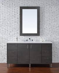 abstron 60 inch silver oak finish single sink modern bathroom