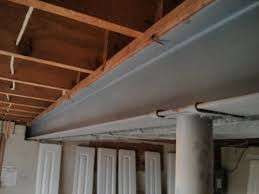 How To Frame A Wall by Basement Attaching Non Load Bearing Walls To Steel I Beams