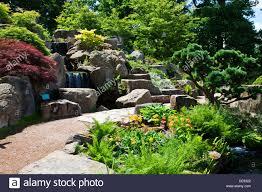 Water Rock Garden by Garden Water Feature Small Waterfall Stock Photos U0026 Garden Water