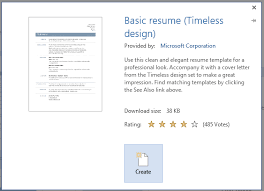 resume template in word 2013 to create a professional resume for free with word 2013