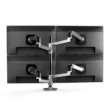 ergotron lx desk mount lcd arm tall pole ergotron 45 549 026 lx dual stacking arm tall pole polished aluminum