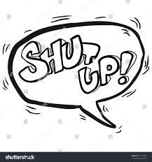 speech bubble activity simple black white words shut up stock illustration 391154965