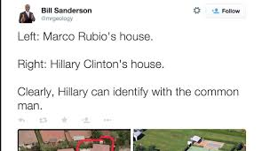 picture of hillary clinton u0027 house next to marco rubio u0027s is going