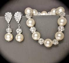pearl bracelet set images 56 pearl bracelet and earrings ivory pearl bridesmaid jewelry set jpg