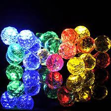solar powered fairy lights for trees sunniemart 20 led round ball solar powered fairy string lights
