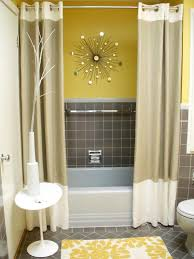 Grey And Yellow Shower Curtains Shower Curtain Ideas For Gray Bathroom Curtain Gallery Images