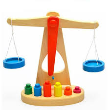 wooden montessori educational balance scale wood