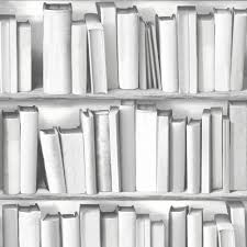 White Bookcase Uk by Muriva Library Pattern Book Shelf Motif Vinyl Mural Wallpaper 578429