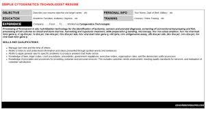 Resume Harvesting Cytogenetics Technologist Cover Letter U0026 Resume
