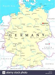 geographical map of germany germany political map with capital berlin national borders most in