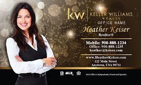 Realtor Business Card Template Williams Realtor Business Card Gold Glitter Sparkle Design 103421
