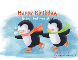 free funny animated birthday card pinguins images card to my best