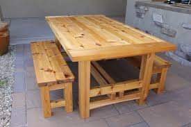 Outdoor Patio Table Plans Free by Rustic Outdoor Table Breadboard Ends With The Domino The Wood