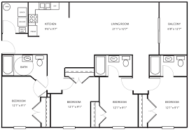 4 bedroom apartment floor plans floor plans u0026 rates