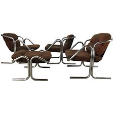 Canvas Sling Back Chairs by Vintage Jerry Johnson Chrome Sling Chair At 1stdibs