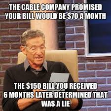 Cable Meme - paid tv fails the lie detector test