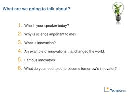 importance of innovation a presentation for school