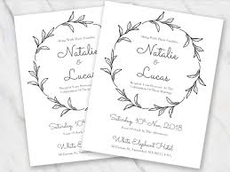 and white wedding invitations wedding invitation templates in word for free