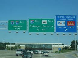 Chicago Traffic Maps by Interstate Guide Interstate 294 Illinois