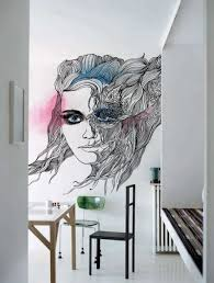 interior gorgeous wall mural design idea with nice colors full image for fancy interior house design with simple furnishing plus arsty wall painting with nice