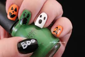 cute halloween nails ghost nail art halloween gallery nail art designs