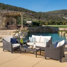 Cosco Outdoor Products Cosco Outdoor - outdoor antibes 5 piece wicker chat set with cushions by