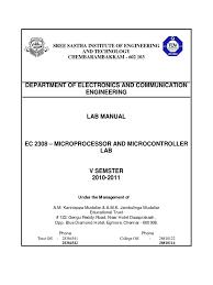 ec2308 lab manual division mathematics analog to digital