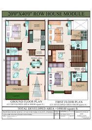 sle house plans 20 x 40 duplex house plans facing