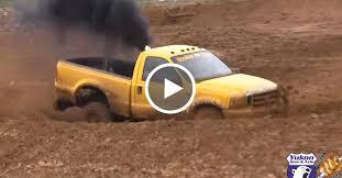 ford mudding trucks ford f 250 power stroke sleeper truck dominates mud track