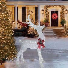 christmas decorations lighted deer lighted deer sculptures