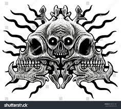 skull ornament white background stock illustration 398741491