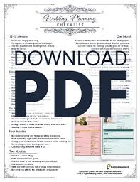 downloadable wedding planner wedding planning checklist