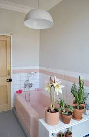 how to tone down or play up pink vintage bathroom tile