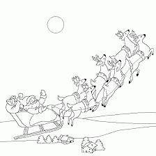 father christmas sleigh magic christmas coloring print