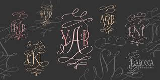 initial fonts for monogram barocca monograms font by tart workshop font bros