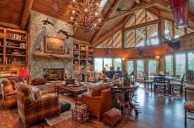 interior handsome log cabin homes interior decoration using