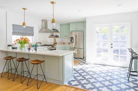 mid century kitchen design mid century mint kitchen design with brass touches digsdigs