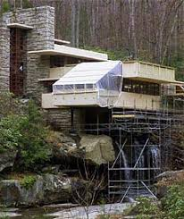 restoration of drooping fallingwater uncovers flaws amid genius