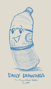 sketch blog the happy water bottle