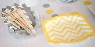 yellow and grey baby shower decorations chevron yellow baby shower theme bigdotofhappiness