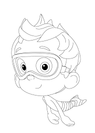 free printable cartoon bubble guppies coloring books for kids