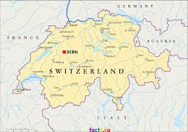 Blank Physical Map Of Europe by Switzerland Map Blank Political Switzerland Map With Cities