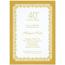 40th Birthday Invitation Cards Rustic Burlap 40th Birthday Invitations Lace And Pearls Party Cards