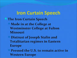 Summary Of Iron Curtain Speech Origins Of The Cold War