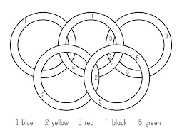 olympic rings coloring funycoloring