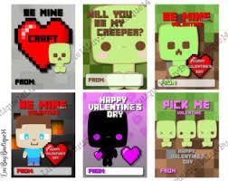 minecraft valentines 6 different tsum tsum cards kids school printable