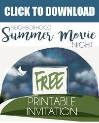 backyard movie night invitations home outdoor decoration