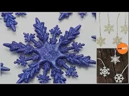 Blue Snowflakes Decorations Snowflake Decorations Xmas Decs Youtube